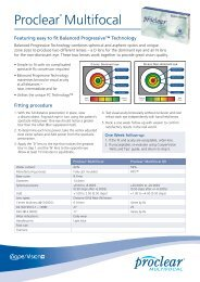 proclear daily multifocal fitting guide