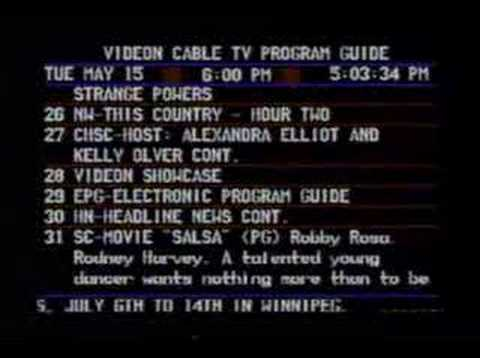 shaw cable tv program guide